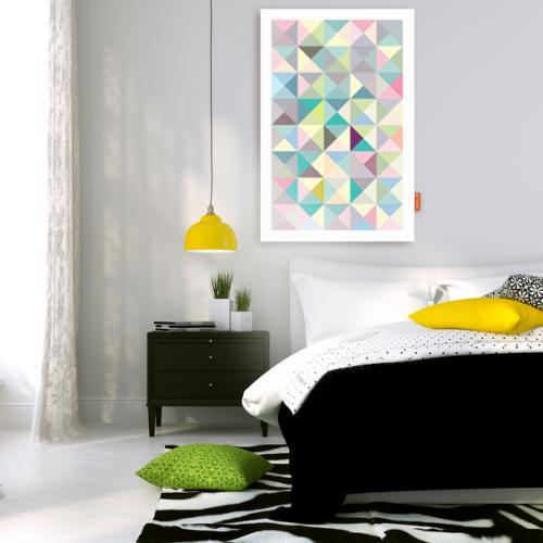 Tableau guide d 39 achat for Tableau geometrique pastel