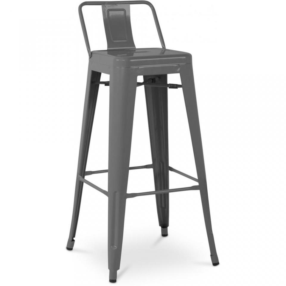 Tabouret tolix petit dossier pictures to pin on pinterest - Tabouret de bar style tolix ...