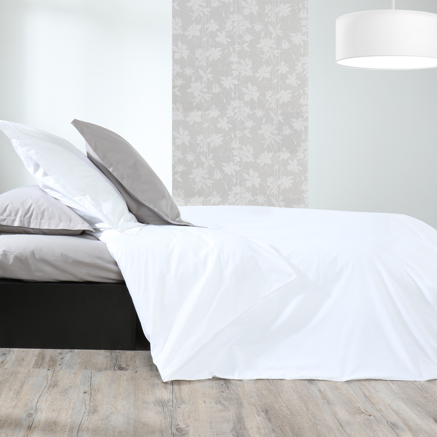 labelissim housse de couette percale m line 2 140 x 200 cm. Black Bedroom Furniture Sets. Home Design Ideas