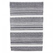 house tapis en plastique motif graphique noir et blanc i. Black Bedroom Furniture Sets. Home Design Ideas