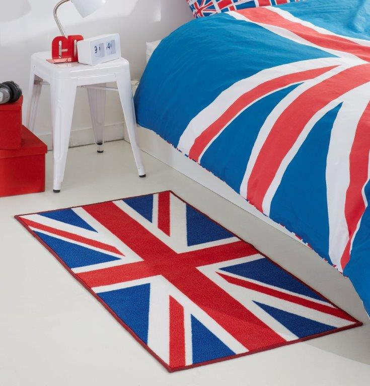 today tapis imprime 60x120 cm semelle latex union jack. Black Bedroom Furniture Sets. Home Design Ideas