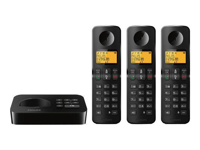 Philips d215 trio cat gorie batterie pour t l phone sans fil - Telephone sans fil avec repondeur pour senior ...