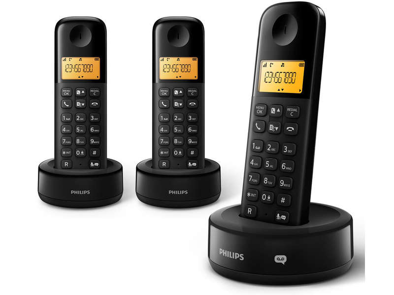 philips cd135 trio cat gorie t l phone sans fil. Black Bedroom Furniture Sets. Home Design Ideas