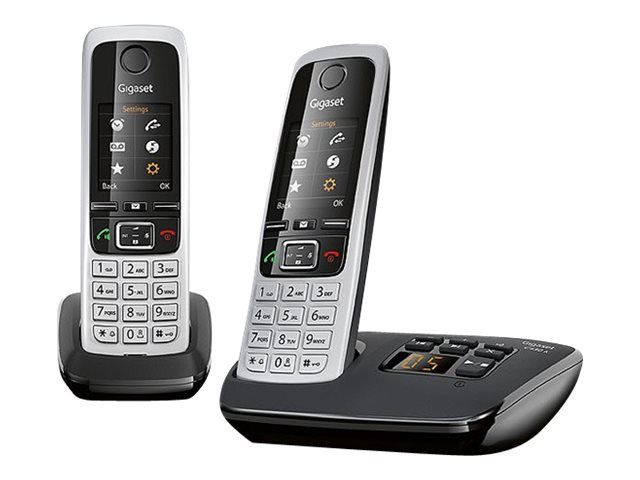 siemens gigaset c430 a duo cordless home phone with answer machine twin handsets ebay. Black Bedroom Furniture Sets. Home Design Ideas