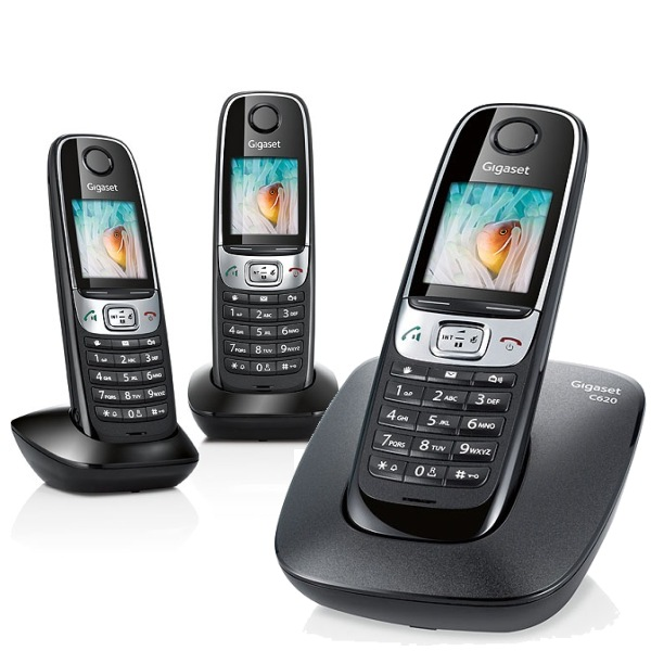 telephone sans fil gigaset siemens gigaset c 620a blanc avec r pondeur. Black Bedroom Furniture Sets. Home Design Ideas