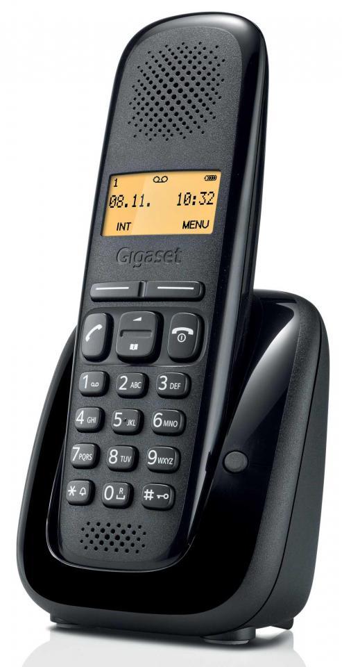 telephone sans fil gigaset siemens gigaset e630 noir. Black Bedroom Furniture Sets. Home Design Ideas