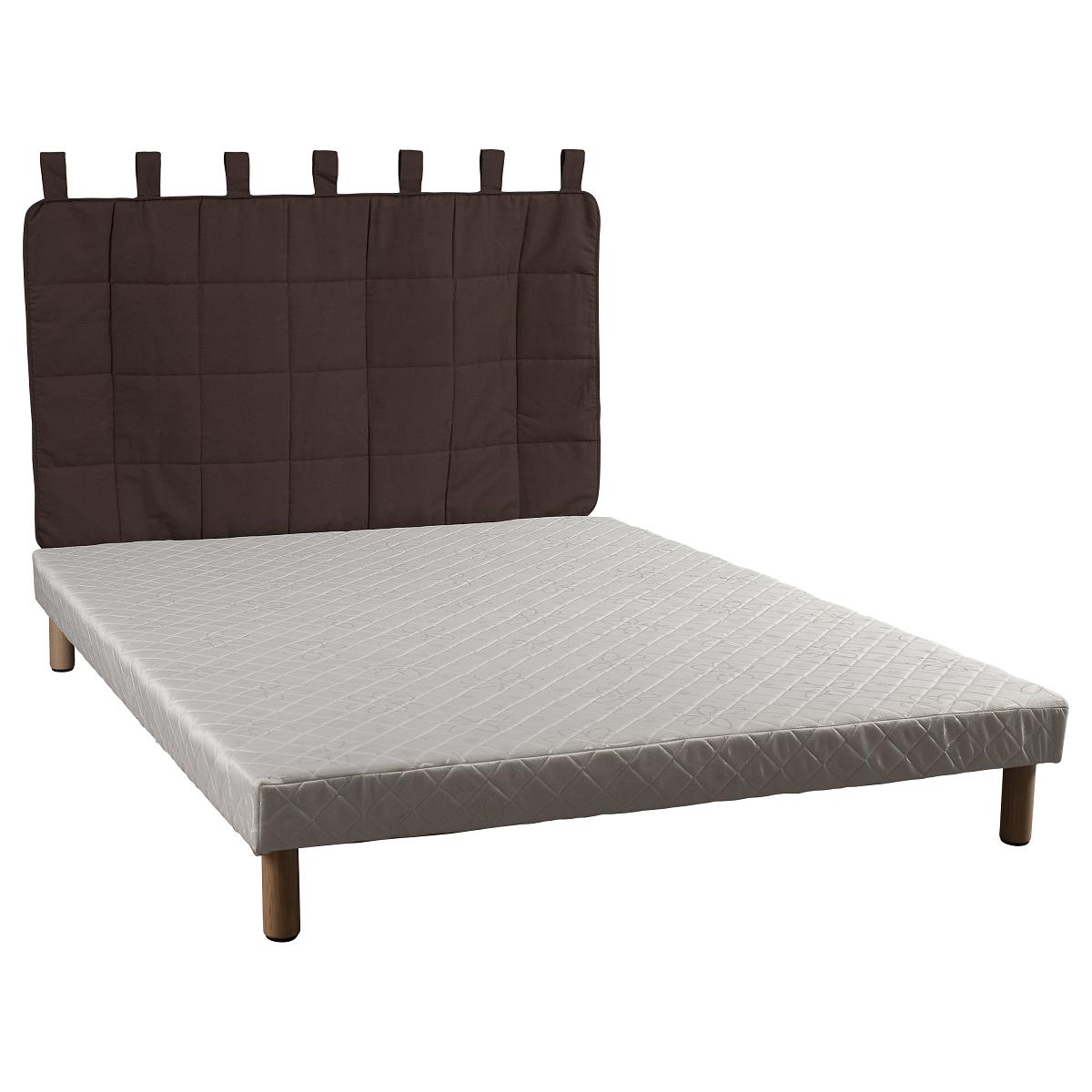 someo t te de lit en tissu matelass chocolat 160. Black Bedroom Furniture Sets. Home Design Ideas