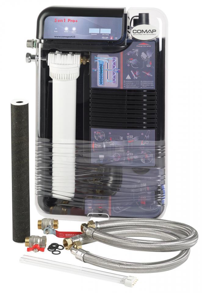 Comap ccentrale de traitement d eau 5 actions en 1 for Anti tartre electronique comap