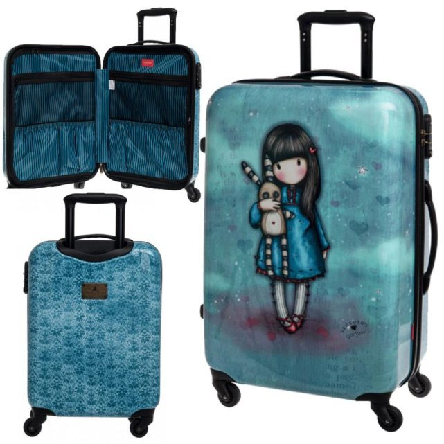 disney grande valise coque rigide bleue gorjuss 60 cm. Black Bedroom Furniture Sets. Home Design Ideas