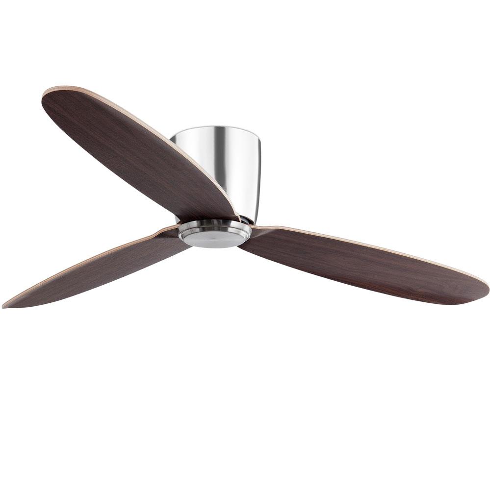 faro mini mallorca ventilateur de plafond diam 106 cm acier brun fonc et pales en bois brun ou