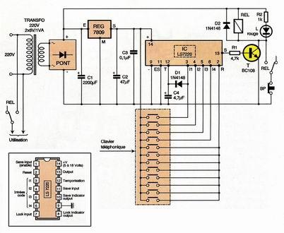 Forum abcelectronique schema de digicode for Transistor porte logique