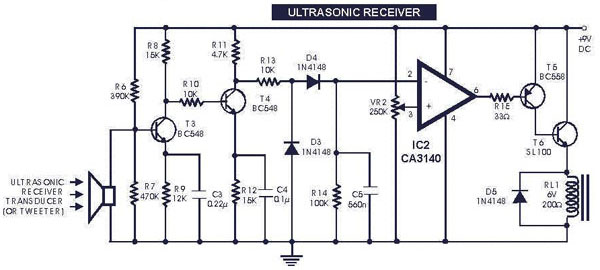 Schematics Depot (tm) - ultrasonic switch circuit