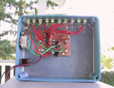 fun with ledsa 10 led sequential flasher in a blue hammond chassis the schematic is shown above