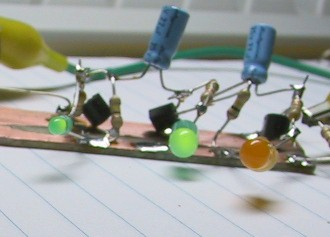 fun with ledsdo not operate this circuit above 9 volts unless you connect diodes from the transistor emitters to ground to prevent emitter base breakdown