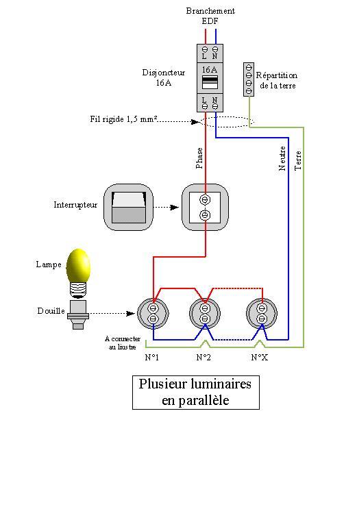Montages de la catgorie electronique de puissance for Branchement eclairage exterieur en serie