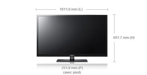 Samsung ps43d450zf - Dimension tv 55 pouces ...