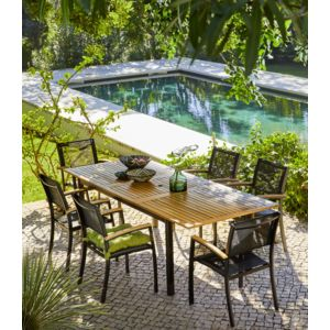 carrefour table de jardin extensible louga. Black Bedroom Furniture Sets. Home Design Ideas