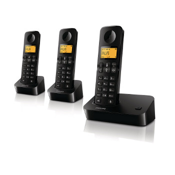 philips tlphone fixe d2003b trio. Black Bedroom Furniture Sets. Home Design Ideas