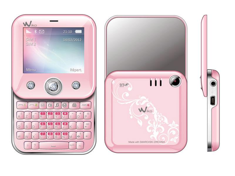 wiko t u00e9l u00e9phone portable duelle rose