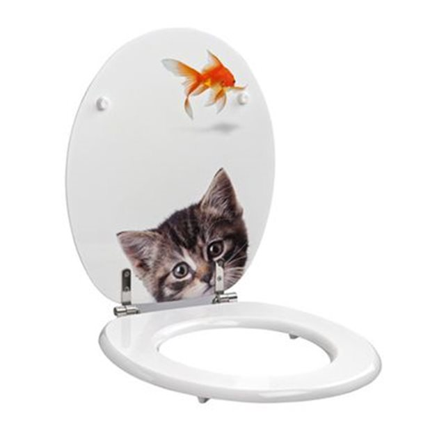 allibert abattant poisson chat. Black Bedroom Furniture Sets. Home Design Ideas
