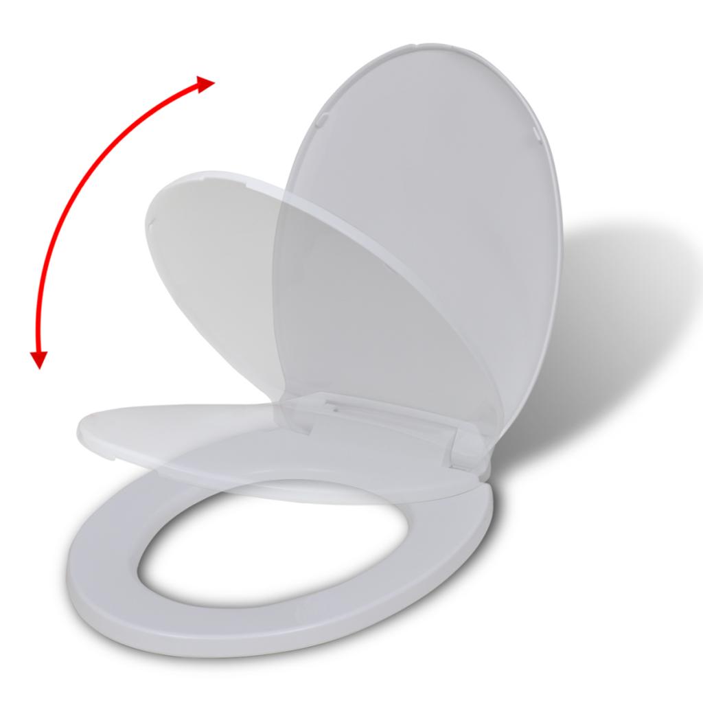 Vidaxl abattant wc fermeture en douceur blanc rond - Abattant wc fermeture automatique ...