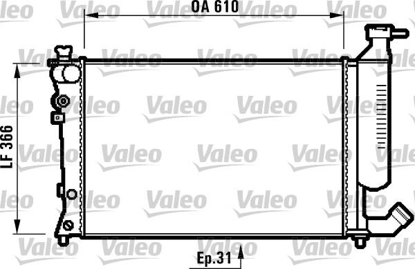 valeo cradiateur du moteur 732520