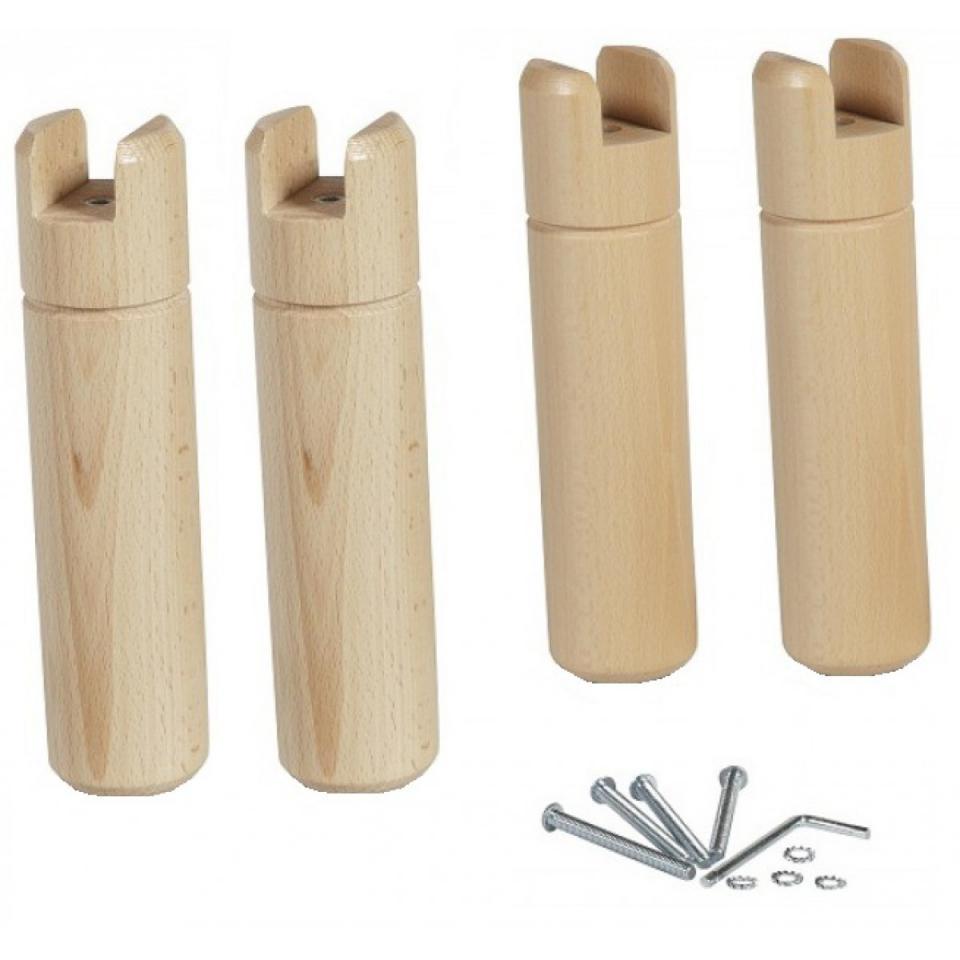 4 pieds bois pour cadre lattes. Black Bedroom Furniture Sets. Home Design Ideas