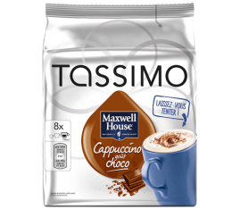 maxwell ccapsule tassimo house cappuccino choco 8 t dis. Black Bedroom Furniture Sets. Home Design Ideas