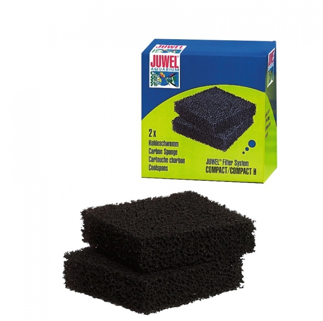 juwel c lot de 2 blocs de mousse au charbon actif pour