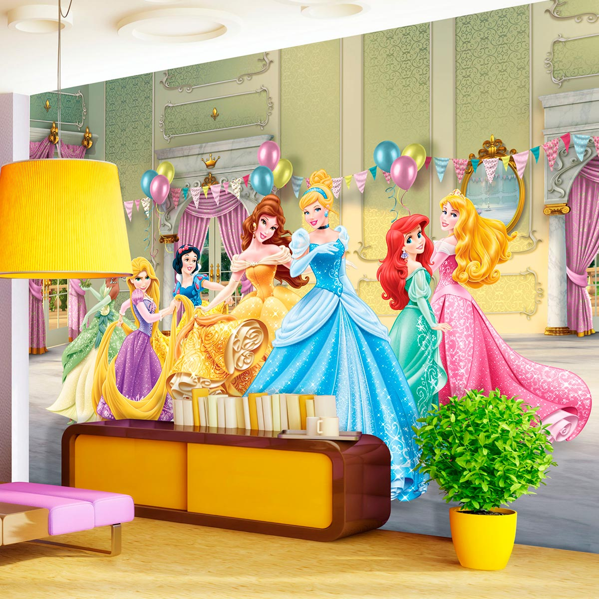 Chambre fille princesse disney top pendule horloge for Stickers geant chambre fille