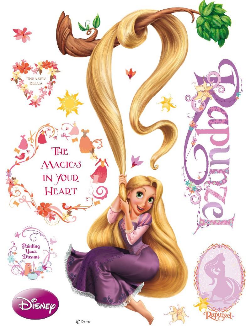 Disney sticker g ant princesse raiponce et arbre - Images raiponce ...