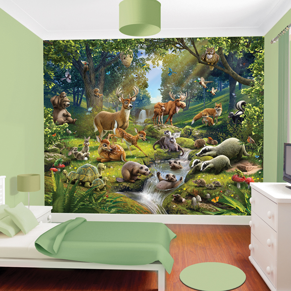 Placard chambre fille for Decoration foret enchantee