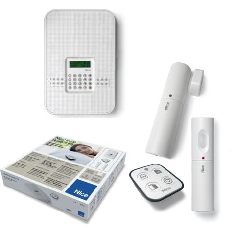 kit alarme sans fil nice home hskit1w. Black Bedroom Furniture Sets. Home Design Ideas