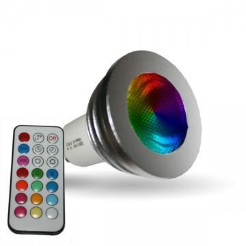 vision campoule led gu10 3w rgb el 7398b catgorie ampoule lectrique. Black Bedroom Furniture Sets. Home Design Ideas