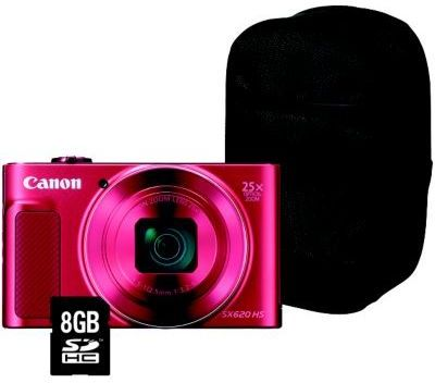 appareil photo compact canon sx620 hs rouge etui sd 8go. Black Bedroom Furniture Sets. Home Design Ideas