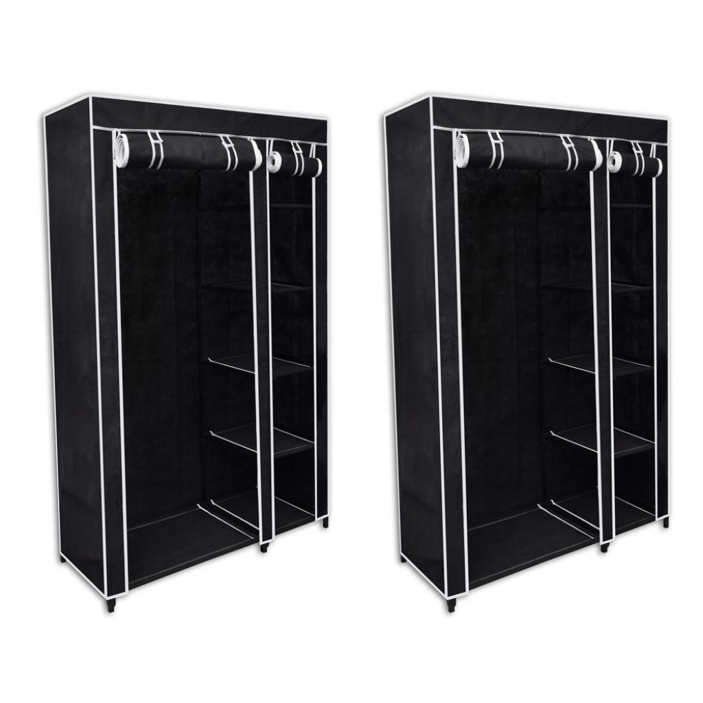 Vidaxl c lot de 2 armoires tag res rangement noires - Comparateur de prix congelateur armoire ...