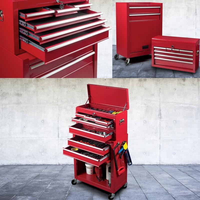 probache servante datelier 8 tiroirs avec caisse outils. Black Bedroom Furniture Sets. Home Design Ideas