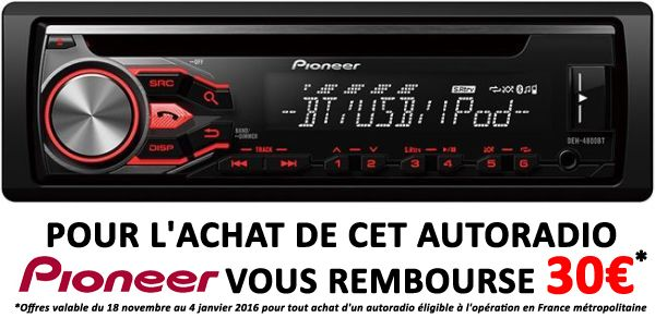pioneer deh 4800 bt catgorie autoradio. Black Bedroom Furniture Sets. Home Design Ideas