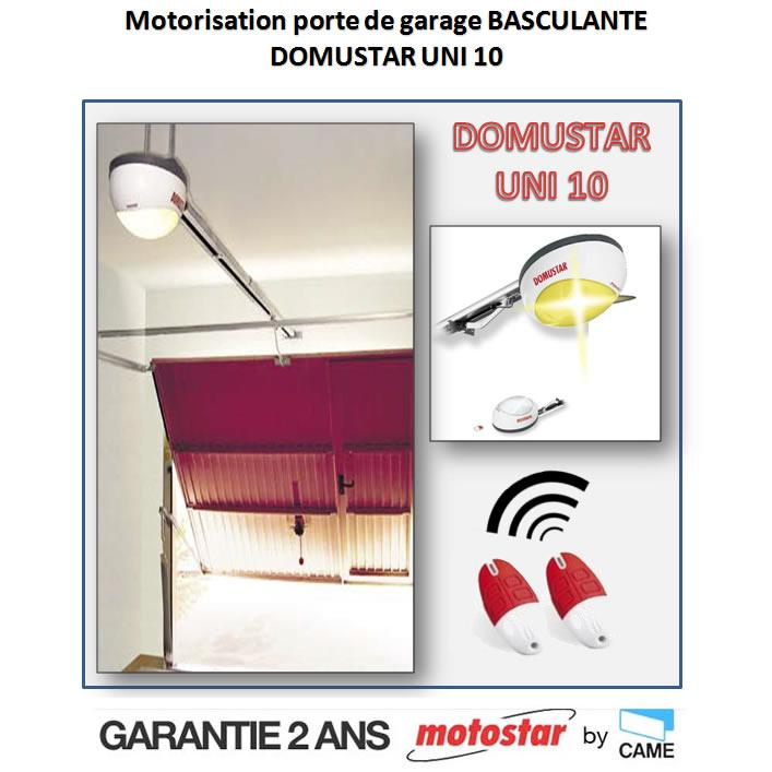 Motostar cmotorisation porte de garage by came domustar for Motorisation portail de garage basculant