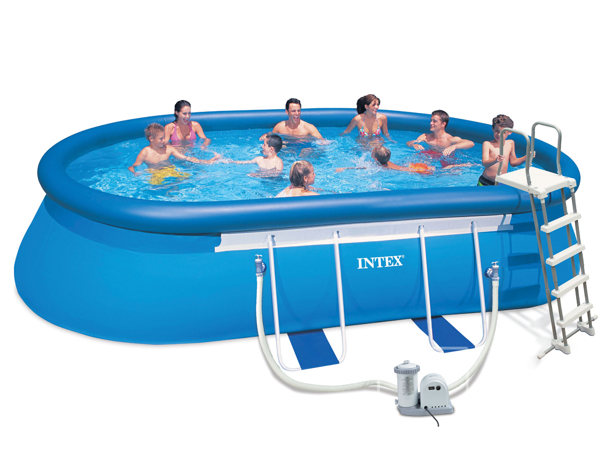 Intex liner pour piscine metal frame tubulaire ronde for Piscine intex 3 66x1 22