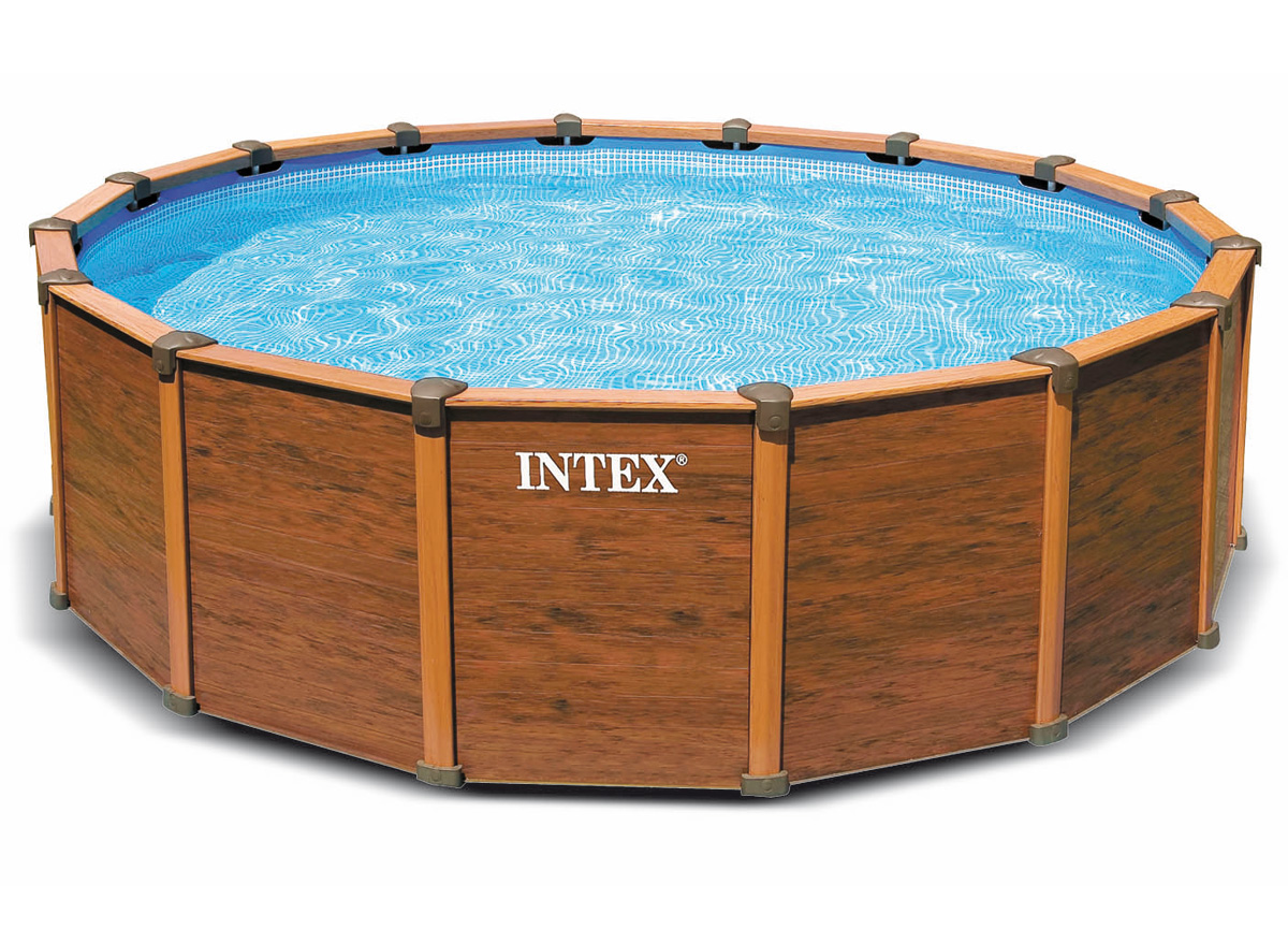 Intex liner s quo a rond x 132 m liner seul for Piscine hors sol sequoia spirit intex
