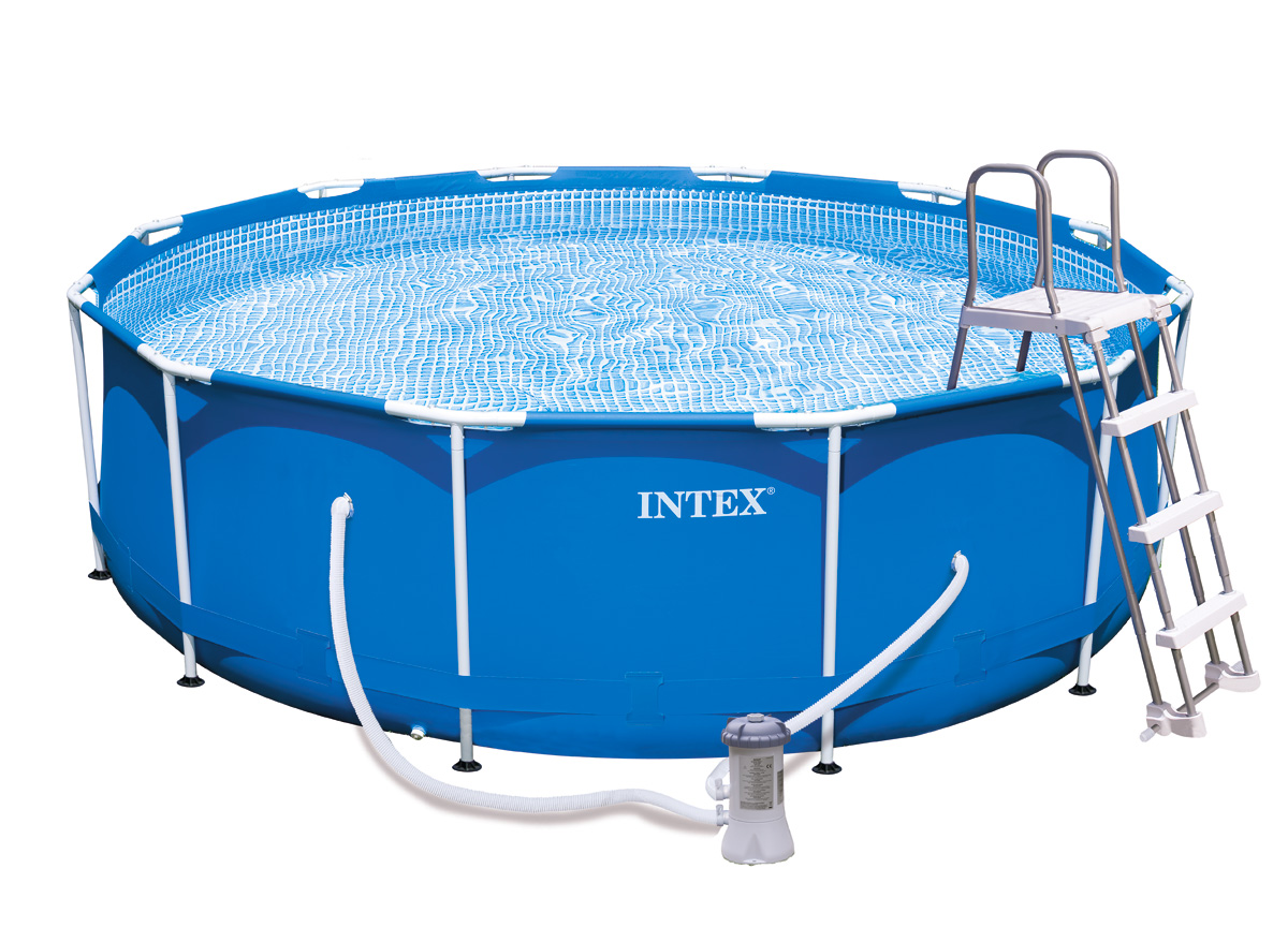 Intex liner tubulaire rond bleu 366 x 099 m liner s for Piscine intex liner