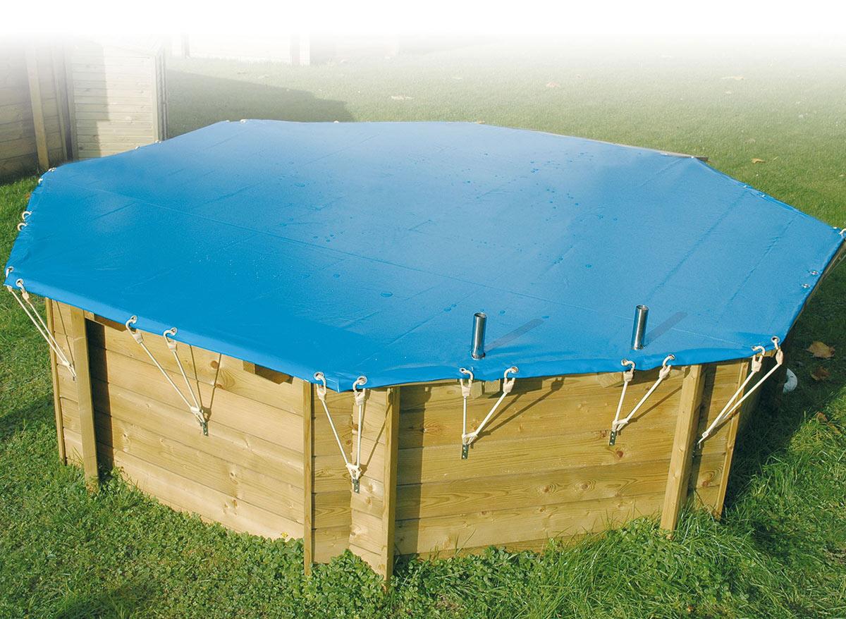 Ubbink b che hiver pour piscine 200 x 350 m for Liner piscine diametre 3 50