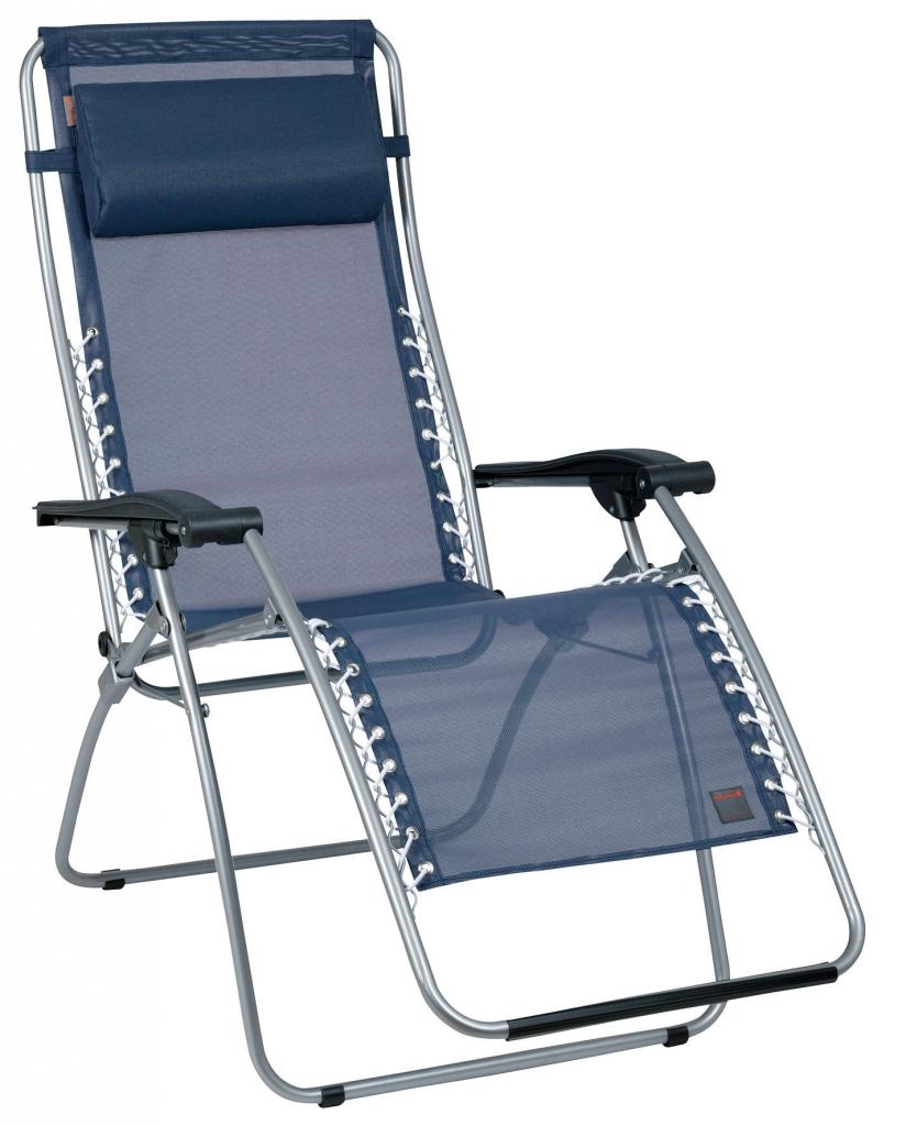 Lafuma c chaise pliante rsxa grau avec batyline 2012 equi - Bain de soleil lafuma ...