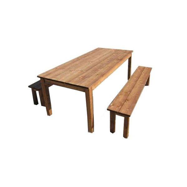 Table avec banc en bois pas cher for Table avec banc