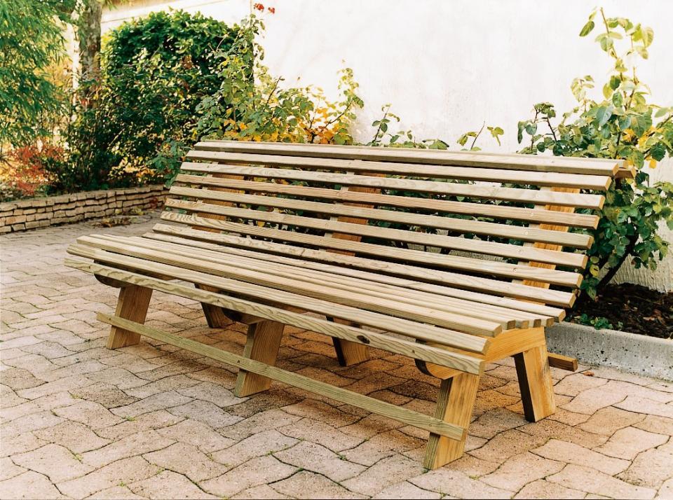 Banc de jardin blanc conceptions de maison - Banc bois jardin ...