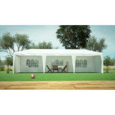 Alice Tente de jardin pergola 3x9m Massilia toile blanche ...