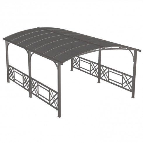 dcb livraison gratuite pergola design carport rectangulaire avec toit rigide. Black Bedroom Furniture Sets. Home Design Ideas