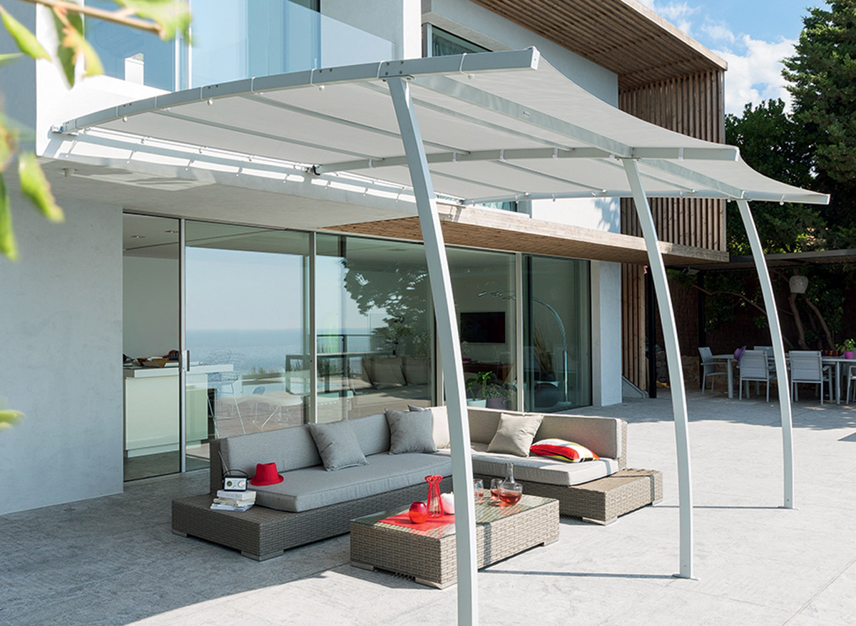 hesperide pergola la digue 3x4m grise. Black Bedroom Furniture Sets. Home Design Ideas
