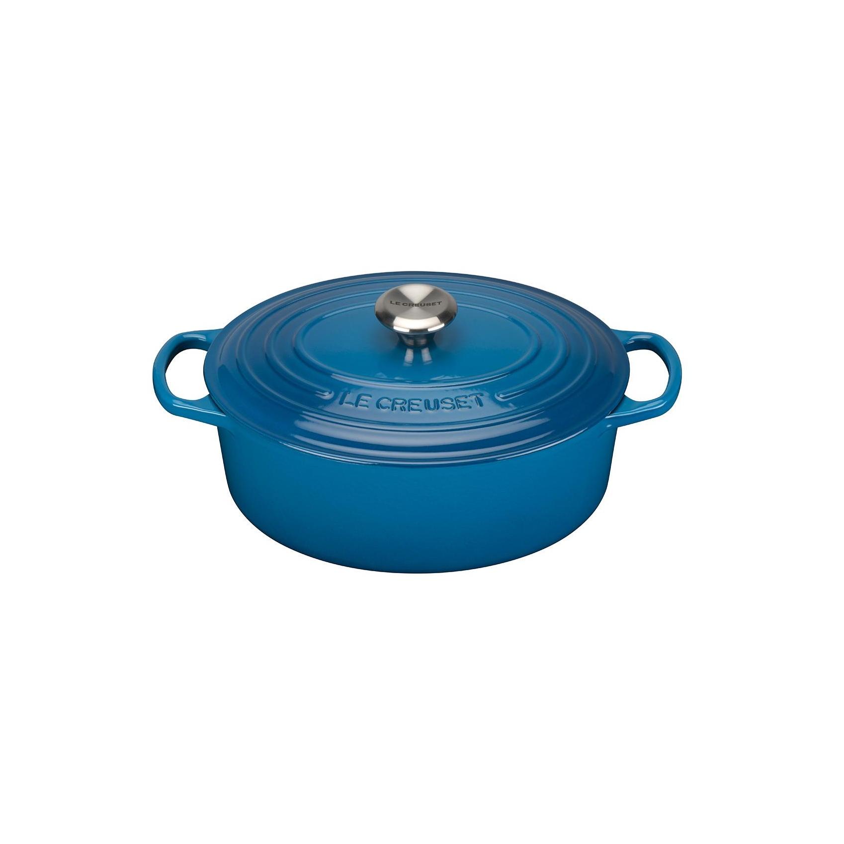 Signature cocotte ovale 31cm bleu marseille hauteur - Cocotte le creuset induction ...